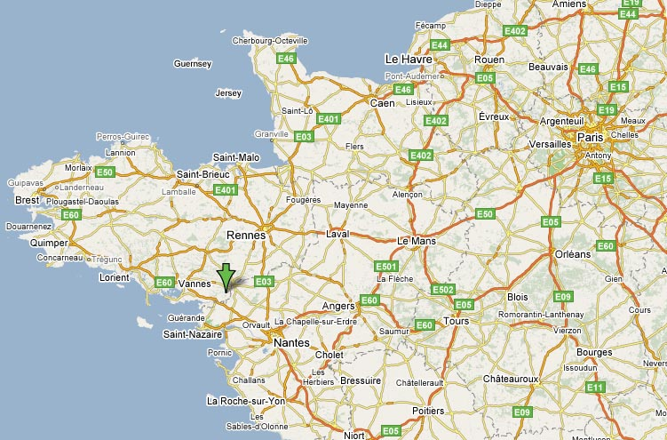 Grange Cottage Brittany Our Location